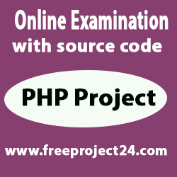 Online Examination with source code provide free project 24
