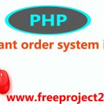 Restaurant order system in PHP