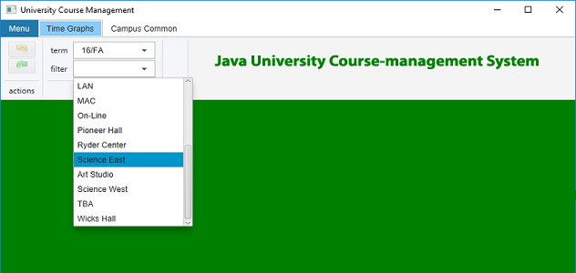 Java University Course-management System
