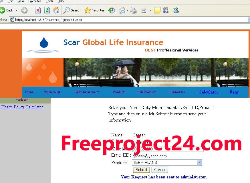 Life Insurance Management System ASP.NET Project