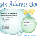 Online Address Book System in Java