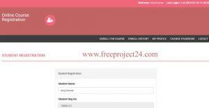 online course reistation system